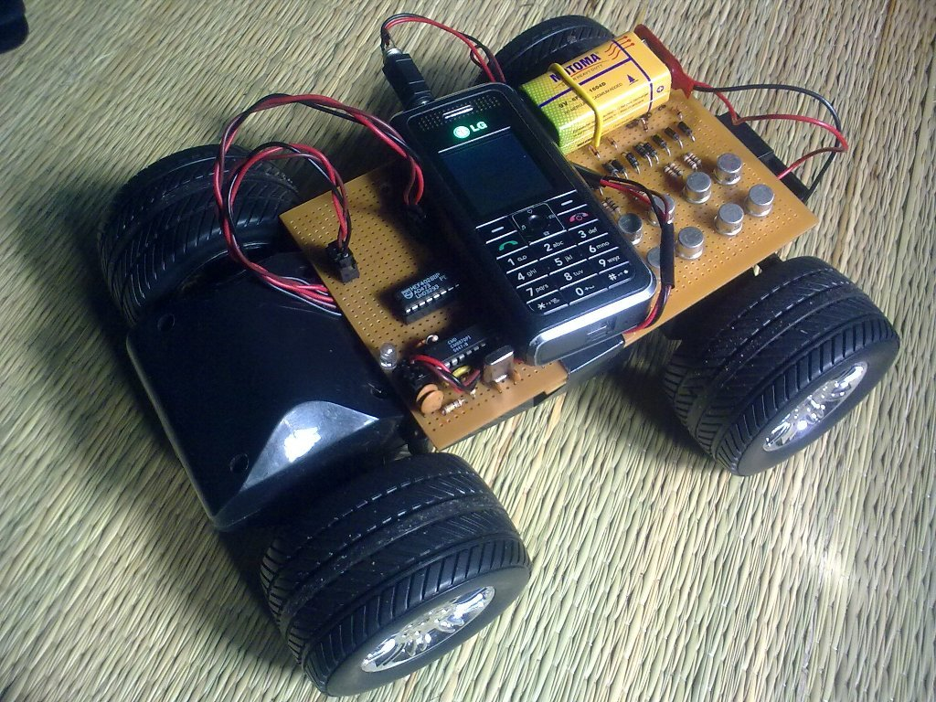 Dtmf controlled car